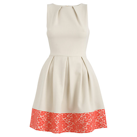 Buy Closet Lace Full Dress, Cream Online at johnlewis.com