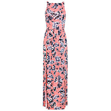 Buy Miss Selfridge Floral Pinny Maxi Dress, Pink Online at johnlewis.com