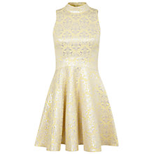 Buy Miss Selfridge High Neck Flippy Dress, Yellow Online at johnlewis.com