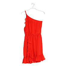 Buy Mango Asymmetric Dress, Bright Red Online at johnlewis.com