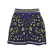 Buy Miss Selfridge Embellished Shorts, Navy Online at johnlewis.com