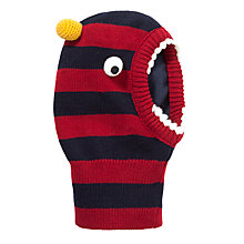 Buy John Lewis Boy Monster Balaclava, Navy/Red Online at johnlewis.com