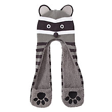 Buy John Lewis Raccoon Hooded Scarf, Grey Online at johnlewis.com