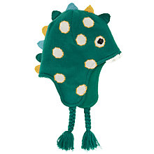 Buy John Lewis Boy Dinosaur Trapper Hat, Green Online at johnlewis.com