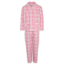 Buy John Lewis Girl Woven Tartan Pyjamas, Red/White Online at johnlewis.com
