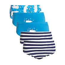 Buy John Lewis Boy Polar Bear Briefs, Pack of 5, Blue Online at johnlewis.com