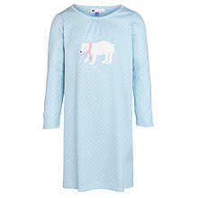 Buy John Lewis Girl Polar Bear Nightdress, Blue Online at johnlewis.com