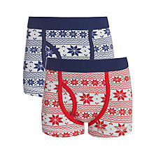 Buy John Lewis Boy Christmas Trunks, Pack of 2, Grey/Multi Online at johnlewis.com