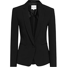 Buy Reiss Waffle Textured Latin Blazer, Black Online at johnlewis.com