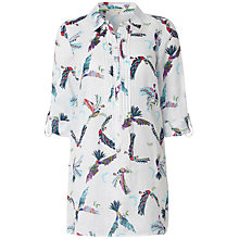 Buy White Stuff Parrots Linen Flutter Tunic Top, Ivory Online at johnlewis.com