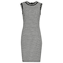 Buy Reiss Alberta Printed Bodycon Dress, Black/White Online at johnlewis.com