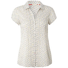 Buy White Stuff Floral Ditsy Shirt, Paper White Online at johnlewis.com