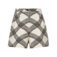 Buy Reiss Multi Check Portico Shorts, Black/Cream Online at johnlewis.com