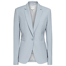Buy Reiss One Button Fenley Jacket, Ice Blue Online at johnlewis.com