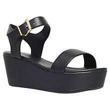 Buy KG by Kurt Geiger Madrid Platform Sandals, Black Online at johnlewis.com