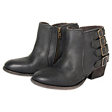 Buy H by Hudson Encke Leather Ankle Boots, Coal Online at johnlewis.com
