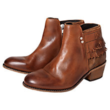 Buy H by Hudson Core Leather Ankle Boots, Tan Online at johnlewis.com