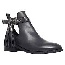 Buy KG by Kurt Geiger Steep Leather Ankle Boots, Black Online at johnlewis.com