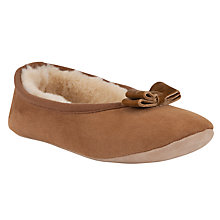 Buy John Lewis Sheepskin Ballerina Slippers Chestnut Online at johnlewis.com