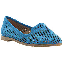 Buy Berite Langham Laser Cut Out Suede Slipper Shoes, Teal Online at johnlewis.com