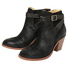 Buy Hudson Lewknor Suede Ankle Boot, Black Online at johnlewis.com