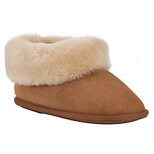 Buy Bedroom Athletics Sheepskin Full Slippers, Chestnut Online at johnlewis.com