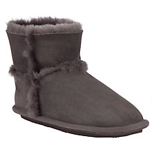 Buy John Lewis Sheepskin Slipper Boots, Slate Online at johnlewis.com