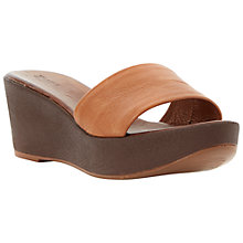 Buy Dune Gretta Wide Vamp Mule Leather Wedge Sandals Online at johnlewis.com