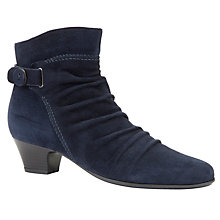 Buy John Lewis Diana Ruched Ankle Boots, Navy Online at johnlewis.com