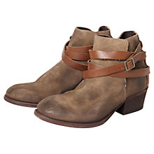 Buy H by Hudson Horrigan Distressed Suede Ankle Boot, Beige Online at johnlewis.com
