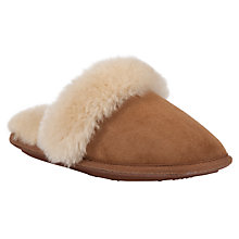 Buy John Lewis Sheepskin Mule Slippers, Chestnut Online at johnlewis.com
