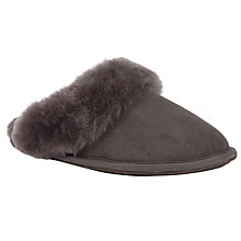 Buy John Lewis Slate Sheepskin Slipper Mules Online at johnlewis.com