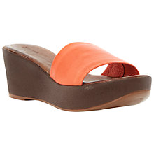 Buy Dune Gretta Wide Vamp Mule Wedge Sandals Online at johnlewis.com