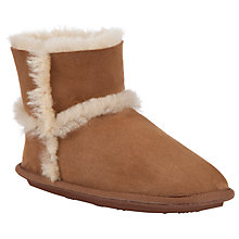 Buy John Lewis Sheepskin Boot Slippers, Chestnut Online at johnlewis.com