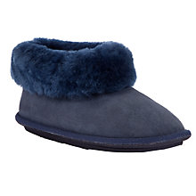 Buy John Lewis Sheepskin Full Slipper Boots, Midnight Online at johnlewis.com