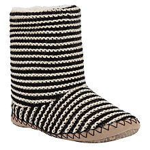 Buy John Lewis Striped Slipper Boots Online at johnlewis.com