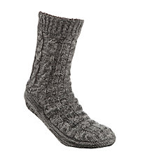 Buy John Lewis Patterned Slipper Socks, Charcoal Online at johnlewis.com