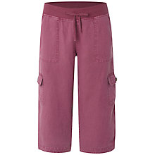 Buy White Stuff Chattering Linen Cropped Trousers, Light Morello Cherry Online at johnlewis.com