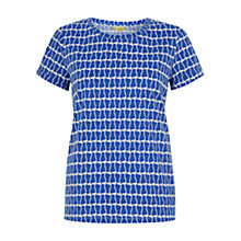 Buy NW3 by Hobbs Polly Cat T-Shirt, Rain Blue Online at johnlewis.com