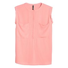 Buy Mango Chest Pocket Chiffon Top Online at johnlewis.com