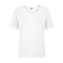 Buy NW3 by Hobbs Anchor T-Shirt, Lake Blue Multi Online at johnlewis.com