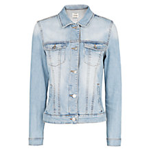 Buy Mango Light Wash Denim Jacket, Light Pastel Blue Online at johnlewis.com