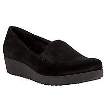 Buy John Lewis Designed for Comfort Rola Suede Loafer Shoes, Black Online at johnlewis.com