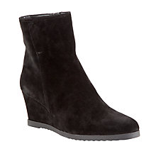 Buy John Lewis Designed for Comfort Pigeon Suede Wedge Mid Heel Ankle Boots Online at johnlewis.com