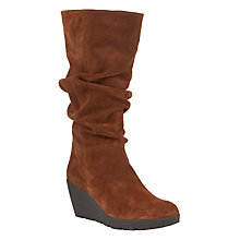 Buy John Lewis Crane Suede Calf Boots, Tan Online at johnlewis.com