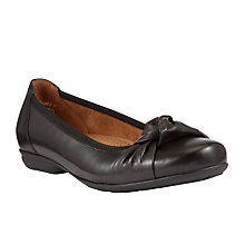 Buy Gabor Ashlene Leather Flat Ballerina Pumps Online at johnlewis.com
