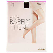 Buy John Lewis 7 Denier Barely There Hold Ups, Pack of 1 Online at johnlewis.com