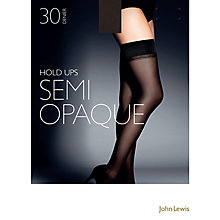 Buy John Lewis 30 Denier Semi-Opaque Hold-Ups, Pack of 1, Black Online at johnlewis.com