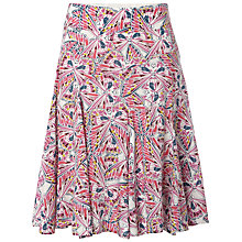Buy White Stuff Butterfly Swoosh Skirt, White Online at johnlewis.com