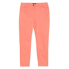 Buy Mango Slim Fit Trousers, Light Pastel Red Online at johnlewis.com